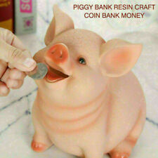 Piggy Bank Resin Craft Coin Bank Money Pig Shaped Box Gifts for Kids New
