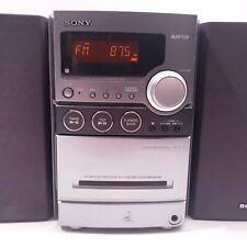 Sony HCD-NEZ30 CD Cassette AM/FM Radio Stereo Receiver Tested 2 Speakers MP3