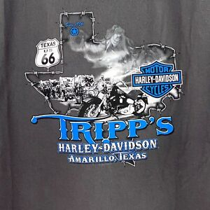 Harley Davidson Tripp's Amarillo Texas Gray Short Sleeve T Shirt 3XL