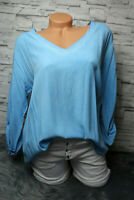 Italy Oversized Shirt Gr. 36 38 40 42 Vintage Sweat Jeans blau Bluse blogger