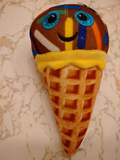 WAFFLE CONE ICE CREAM CHOCOLATE W/ COLORFUL SPRINKLES 8 INCHES SMILEY FACE DIET