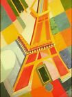"""Robert Delaunay Vintage French Abstract Art CANVAS PRINT Eiffel Tower 24""""X16"""""""