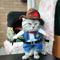 Halloween Costume Pet Clothes Cowboy Cosplay Dogs Cat Fancy Dress Clothing  Top