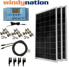 Solar KIT: 300 Watt 3pcs 100W Solar Panel w/ LCD Controller 12V RV Boat Off-Grid