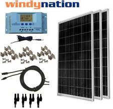 Solar Kit: 300 vatios de 3 unidades 100w Panel Solar C / Lcd Controller 12v Rv Barco aisladas de la red