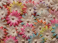 100 x 25mm Paper FLOWERS MPFF9 PASTELS Scrapbooking Craft Party Decorations