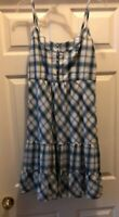 American Eagle Patterned Sundress Straps Blue Womens Size 10