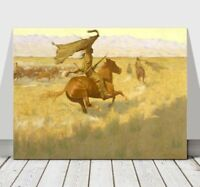 """FREDERIC REMINGTON - Horse Theives - CANVAS ART PRINT POSTER - Stampede - 18x12"""""""