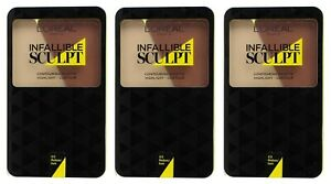 3 x LOREAL 10g INFALLIBLE SCULPT CONTOURING PALLETTE 03 MEDIUM/ DARK BRAND NEW