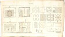 Stampa antica COSTRUZIONE STUFE dettagli Poelerie 2 1814 Old antique print