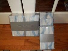 NIP Barbara Barry Alpen Delft White Blue Abstract King Duvet Cover Set 7pc