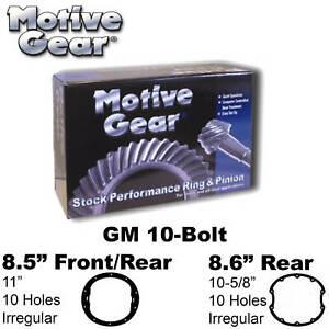 Motive Gear Gm10411 RingampPinion GM 10Bolt 85 411 Motive Gear