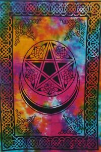 MOON AND STAR DYE Bedroom Dorm Decor Throw Wall Hanging Hippie Poster Tapestry