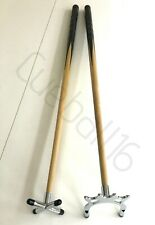 """2 x 48"""" 1 PIECE POOL or SNOOKER CUES With CHROME CROSS & BRIDGE RESTS For TABLES"""