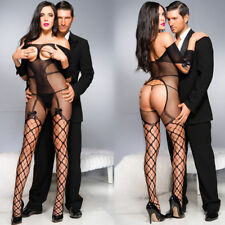 Sexy Open Breast Nightwear Women Fishnet Body Stocking Sexy Lingerie Nightgown