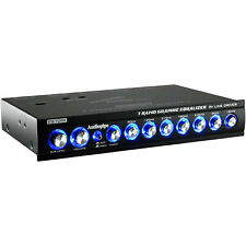 Audiopipe® Eq-709X 7-Band In-Dash 1/2-Din Car Graphic Equalizer + 9V Line Driver