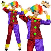 Adult Women's Funny Clown Costume Circus Carnival Fancy Dress