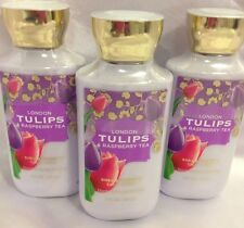 3 Bath & Body Works London Tulips & Raspberry Tea body lotion