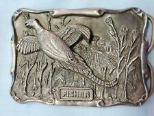 Fisher Pewter Men's Belt Buckle Limited Edition 288/1250 Flying Pheasant 1988