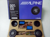 "ALPINE DDT-S30 1"" 360W Soft Dome Balanced Car Tweeters Speaker"