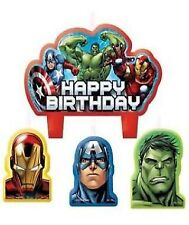 AVENGERS CANDLE SET OF 4 BIRTHDAY PARTY SUPPLIES