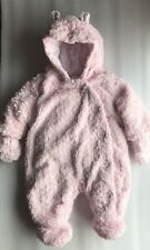 Snow Suit Baby Pink George All In One Lined AGE 0-3 MONTHS