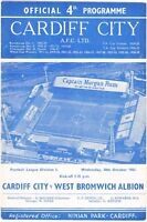 Cardiff City v West Bromwich Albion 1961/2 (18 Oct)