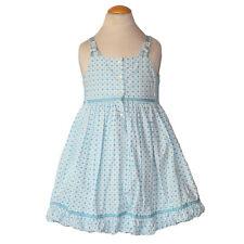 Oilily Girls Blue Flower Summer Sundress Dress Size 5 6 EEUC