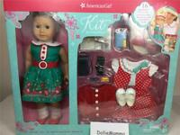 New American Girl Kit Doll~Reporter Outfit~Accessories~Deluxe Gift Box Set~Hat