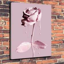 """Pink Paint Covered Rose Printed Canvas Picture A1.30""""x20"""" 30mm Deep Wall Art"""