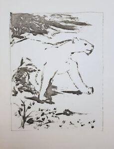 PABLO PICASSO BUFFON HISTOIRE NATURELLE LITHOGRAPH LE LION LION C1970 BESTIARY