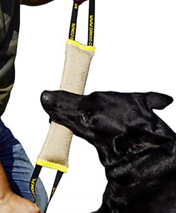 Dingo Jute Bite Tug With Two Handles, For Tug Of War, Dog Fun And Bite Training,