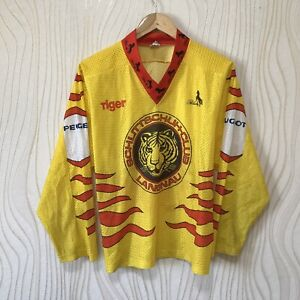 SCHLITTSCHUH-CLUB SC LANGNAU ICE HOCKEY SHIRT JERSEY VINTAGE BLACKY