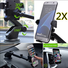 2X 3 In 1 360° Rotation Car Windshield Mount Holder Cradle For Mobile Phone GPS
