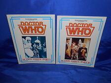 Doctor Who Files (1986) 1st Print 2 Diff Season 3 Part One Season 3 Part Two NM