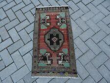 Distressed Oushak Carpet, 1'8'' x 3'