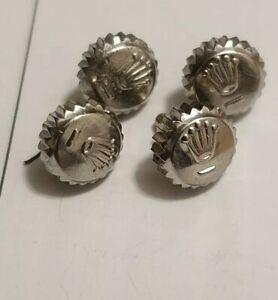 Genuine Rolex 6mm steel Crown datejust  etc x1 crown only