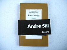 ROMANSONGE André Stil envoi de l'auteur 1976 bandeau origine