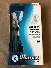 Harrows Aura 22g Steel Tip Darts 95% Tungsten 52634 w/ FREE Shipping