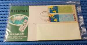 1967 Malaysia First Day Cover Seacom Submarine Cable Commemorative Stamp Issue