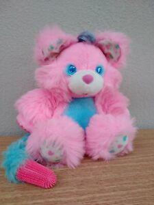 Rare 1987 Brush A Loves Pink Plush Toy Bear