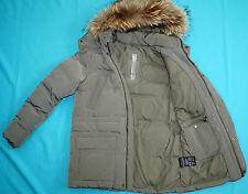 Add Luxus Daunen Jacke 100% Ganz Daunen mit Echtes Raccoon Pelz  Gr 38-40 M NEU