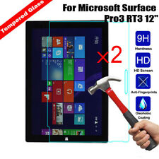 """2Pcs  Genuine Tempered Glass Screen Protector For Microsoft Surface Pro3 RT3 12"""""""