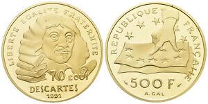 70 Ecu Philosoph Descartes - Frankreich 1991 - Polierte Platte