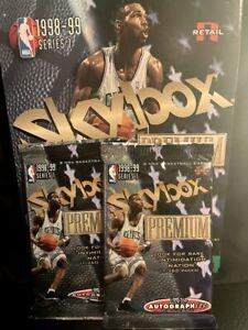 1998 -1999 Skybox Premium Series 1 - 2 Pack Lot - Look for Star Rubies ** Kobe