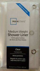 """New Mainstay medium weight Clear w/ metal grommets 70"""" x 71"""""""