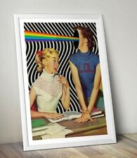 More details for lol sci-fi digital collage art print 1950's girls. poster, art print.