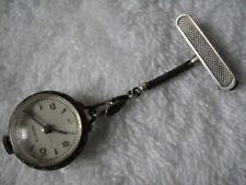 Vtg Bucherer Lucerne Swiss 15 Jewel Lapel Skeleton Globe Watch Pin 800 Sterling