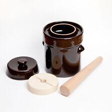 2L Kenley Fermentation Crock Jar Fermenting Pickling Sauerkraut Pot 1/2 Gallon