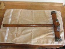 Vintage Antique Nautical Rosewood Shipwrights Caulking Mallet Woodworking Tool